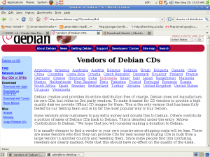 Screenshot Vendor Debian